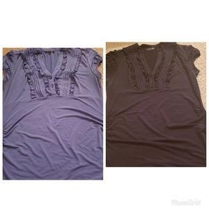 2 maurice's maternity shirts
